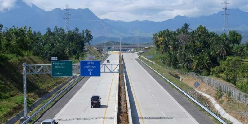 Sebulan Beroperasi Tol Sigli Banda Aceh Dilintasi 60 405 Kendaraan Kerja Hasil